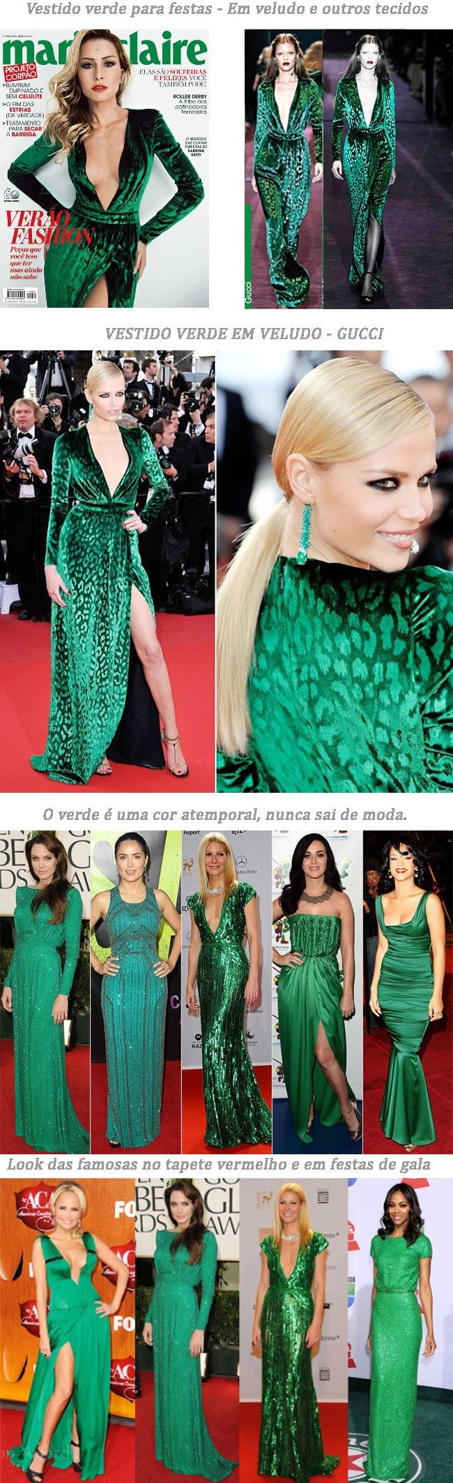 vestido verde para festa
