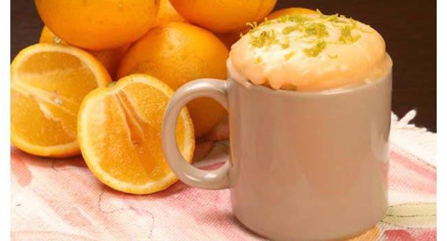 bolo de laranja de microondas