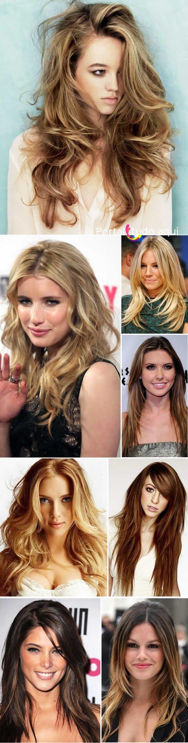 cabelo longo corte moderno 2014