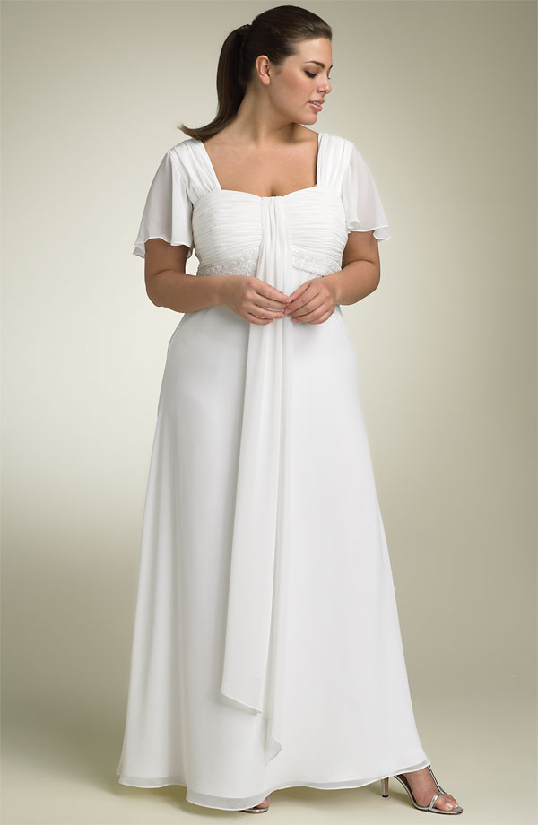 Flutter-Sleeves-Plus-Size-Wedding-Dresses