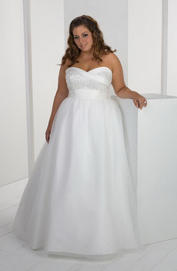 Informal-Short-Plus-Size-Wedding-Dresses