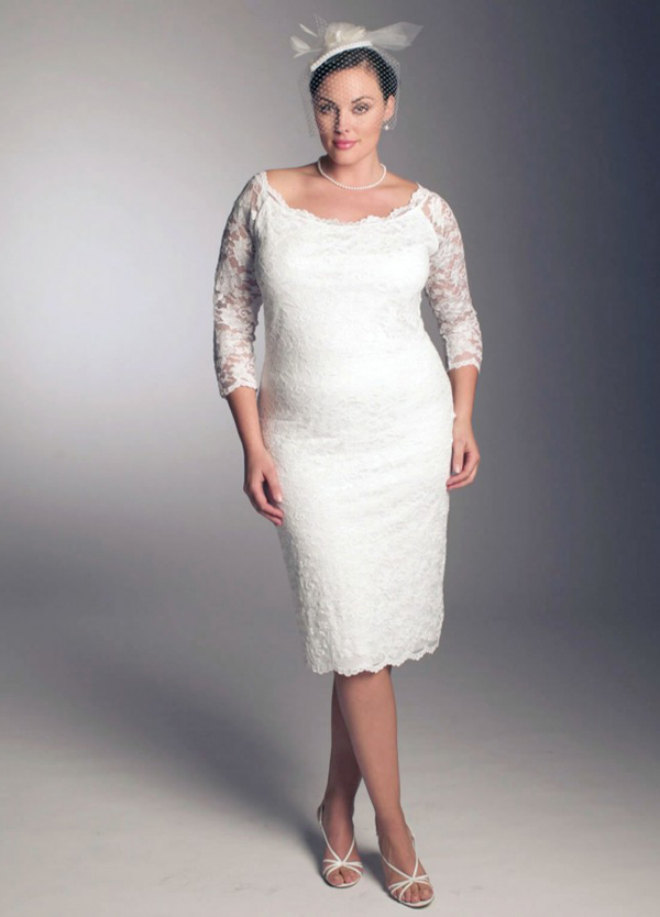 Plus-Size-Short-White-Wedding-Dresses