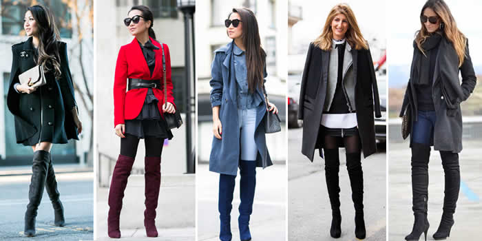 Botas-cano-longo-Botas Over The Knee ou Over Boots- looks-inspirar-sobreposicao