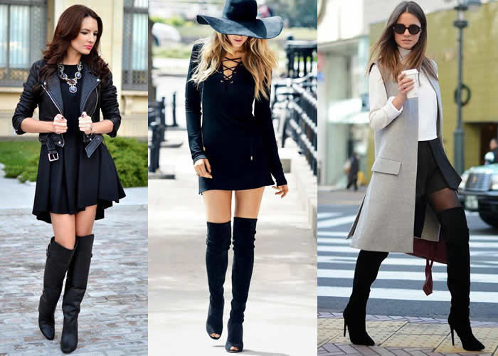 Botas-cano-longo-Botas Over The Knee ou Over Boots- looks-inspirar