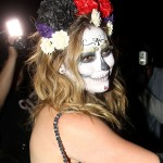 HILARY DUFF Arriving at Halloween Party