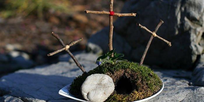 decoração de- pascoa- com- motivo-religiosos